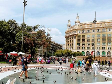 Plaza Cataluña en Barcelona