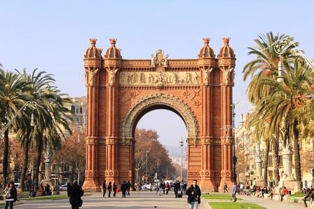 Arco del Triunfo al inicio de la Ciudadela