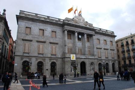 Ayuntamiento de Barceona en la Plaza Sant Jaume