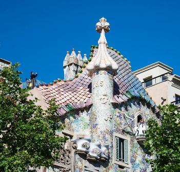 Azotea de la Casa Batlló en Barcelona