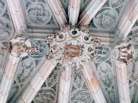 Calavera en el Pont del Bisbe de Barcelona
