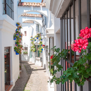 Calle de Andalucía en el Poble Espanyol de Barcelona