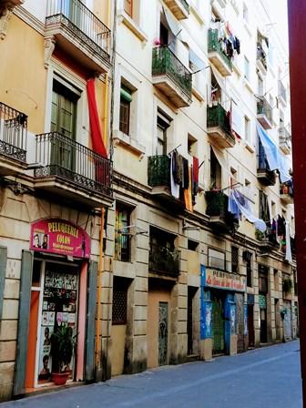 Calle del Raval en Barcelona