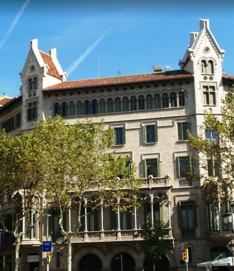 Casa de la Viuda Marfa en el Paseo de Gracia de Barcelona