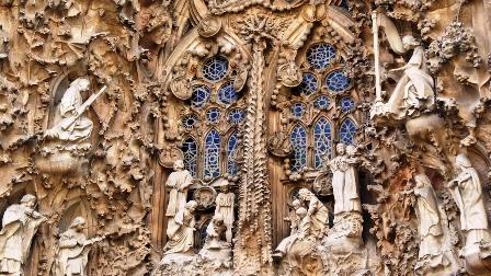 Detalle de la fachada del Nacimiento de lña Sagrada familia