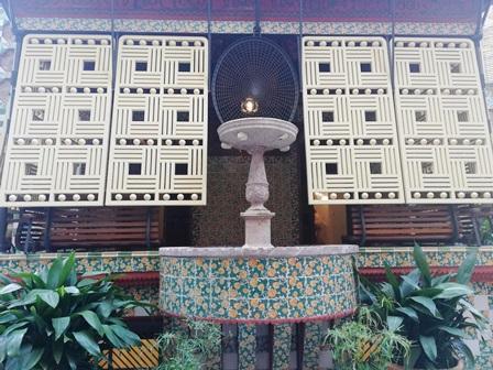 Detalles orientales en la Casa Vicens de Gaudí