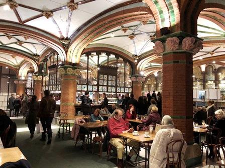 El Foyer o cafetería del palau de la Música de Barcelona