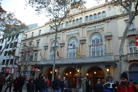 El Gran Teatro Liceu en las Ramblas de Barcelona