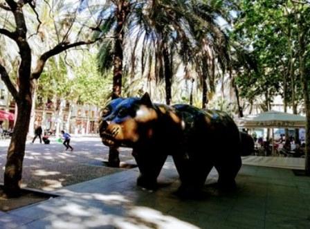 El Gato de Botero en el Raval de Barcelona