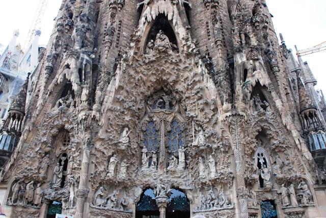 Fachada del Nacimiento en la Sagrada Familia