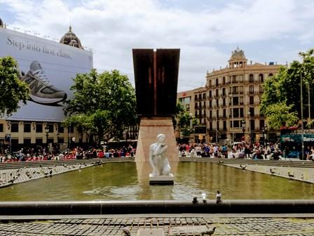 Fuente de la Plaza Cataluña