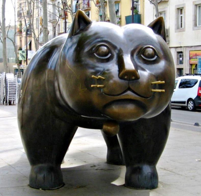 Gato de Botero en el Raval de Barcelona