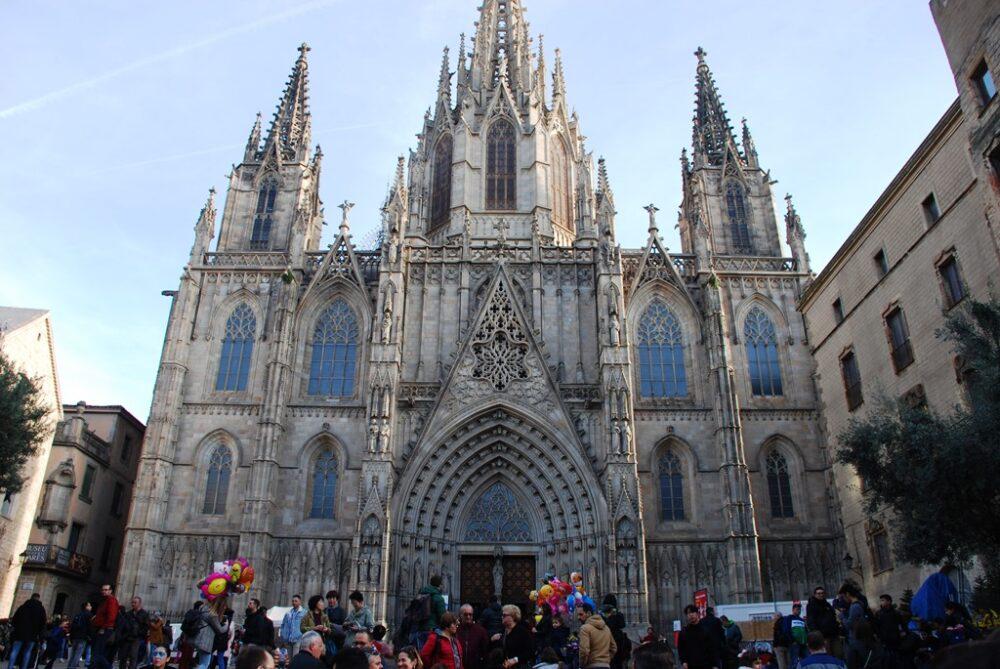 La Seu o Catedral de Barcelona en el Barrio Gótico