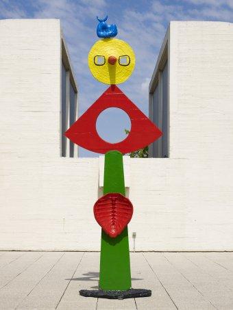 La caricia de un pájaro de Joan Miró de la Fundación Miró en Barcelona