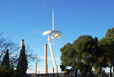 La torre de Telecomunicaciones de Calatrava en Montjuic