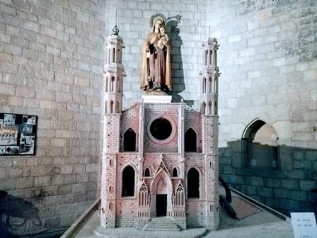 Maqueta de la Basílica de Santa María del Mar en Barcelona