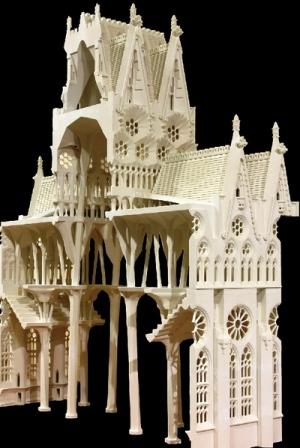 Maqueta de yeso de la Sagrada Familia de Gaudí