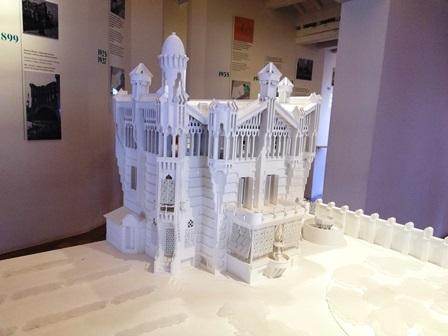 Maquetas en la Sala de Exposiciones de la Casa Vicens de Gaudí