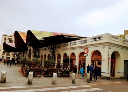 Mercado de Santa Caterina en el Born de Barcelona
