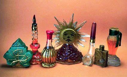 Frascos originales en el Museo del Perfume de Barcelona