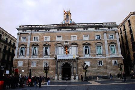 Palau de la Generalitat en el Barrio Gótico de Barcelona