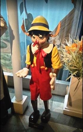 Pinocho en el Museo de Cera de Barcelona