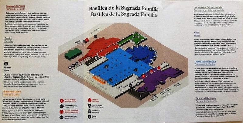 Plano de la Basílica de la Sagrada Familia de Gaudí en Barcelona