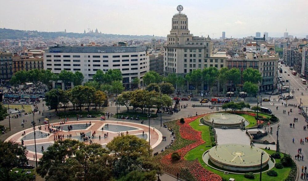 Plaza Catalunya en Barcelona