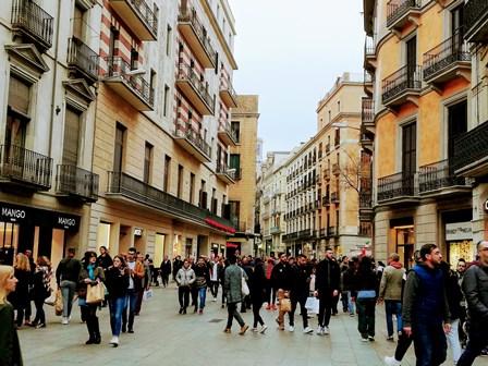 Avenida del Portal del Ángel en Barcelona