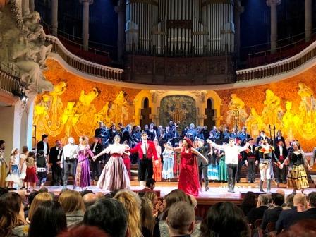 Representación de la ópera Carmen de Bizet en el Palau de la Música de barcelona