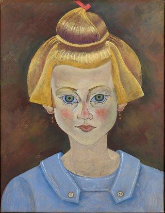 Retrato de una niña de Miró en la Fundación Miró Barcelona