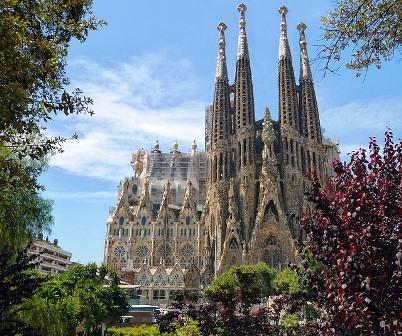 La Sagrada Familia de Antonio Gaudí en Barcelona