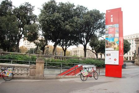 Sede de la Oficina de Turismo de Barcelona en Plaza Catalunya