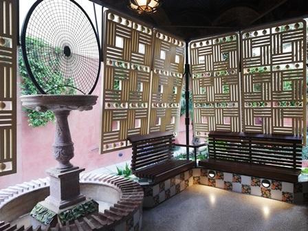 La terraza del comedor de la Casa Vicens de Gaudí