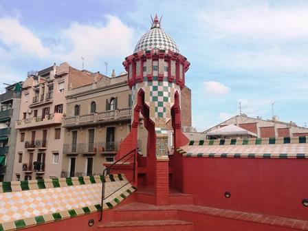 Terraza de la Casa Vicens de Gaudí