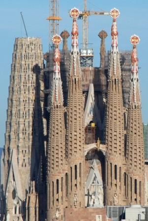Torres de la Sagrada Familia de Gaudí