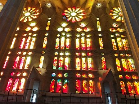 Vidrieras del interior de la Sagrada Familia