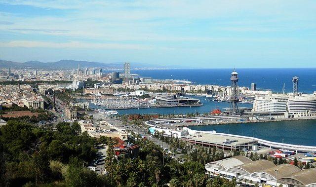 Vistas puerto Barcelona