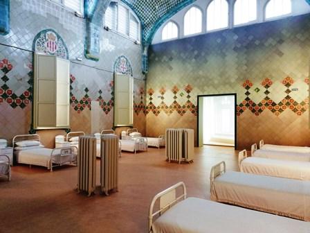 Pabellón del recinto hospitalario de Sant Pau