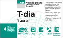Billete de día de transporte de Barcelona