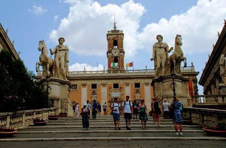 La Cordonata de la Plaza del Campidoglio en Roma