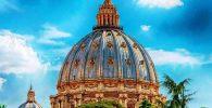 La cúpula de San Pedro en el Vaticano
