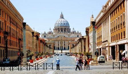 Llegar al Vaticano por la Vía de la Conciliazione