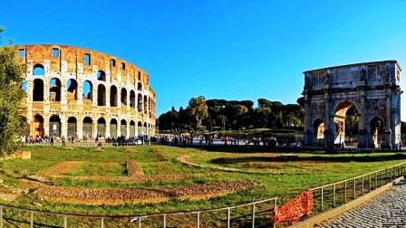 El Arco de Cosntantino, junto al Coliseo