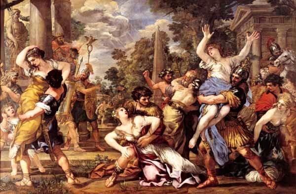 El Rapto der las Sabinas de Cortona en lso Museos Capitolinos