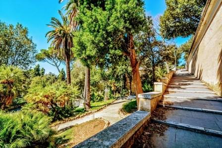 Jardines del Parque de Villa Borghese