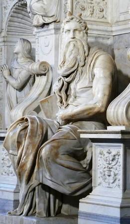 La gran expresividad del Moisés de Miguel Ángel