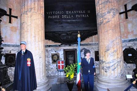 Tumba a Vittorio Enmanuel II en el Panteón de Agripa