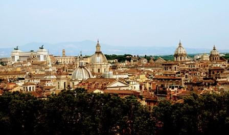 Vistas de Roma desde la terraza del castillo de Sant´Angelo