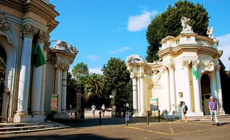 Zoo de Bioparco en el Parque de Villla Borghese